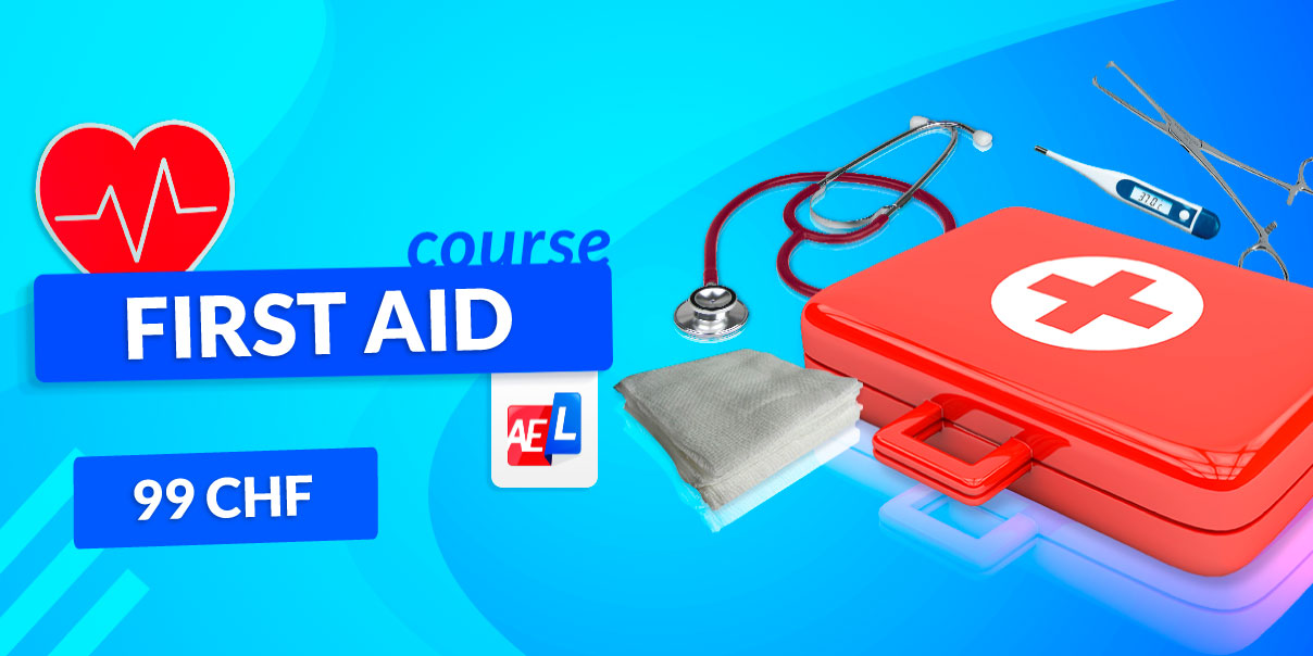 Banner for first aid course